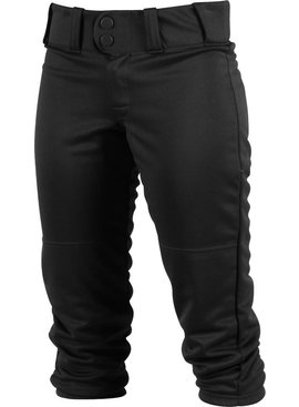 WORTH GIRLS LOW-RISE BELTED PANTS BLACK SMALL