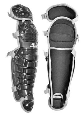 ALL STAR 9 TO 12 LEAGUE SERIES LEG GUARD BLACK 13""
