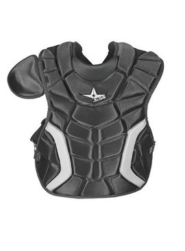 ALL STAR 9 TO 12 PLAYER'S SERIES CHEST PROTECTOR BLACK 14.5""