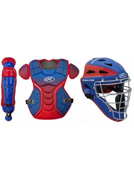 RAWLINGS VELOKIT Catcher's Leg Guard-Chest Protector-Helmet