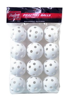 "RAWLINGS 9"" Plastic Baseballs (white 12 pk)"