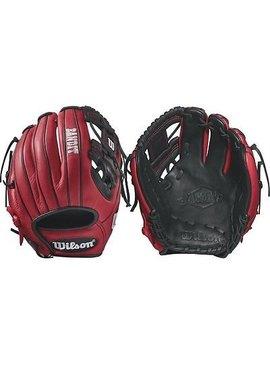 "WILSON-DEMARINI Bandit 1786 Pedroia Fit 11.5"" Baseball Glove"