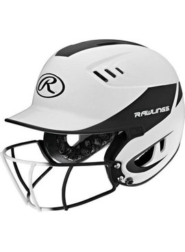 RAWLINGS R16H2FGS Senior 2-Tone Batting Helmet With Faceguard