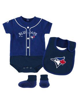 OUTERSTUFF Toronto blue jays 3 piece bodysuit set