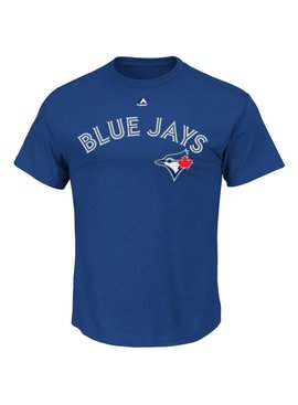MAJESTIC Blue Jays Synthetic Wordmark Shirt