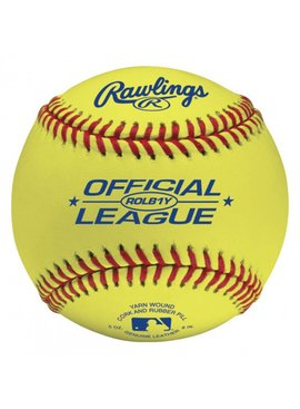 RAWLINGS ROLB1Y Yellow Baseball Ball