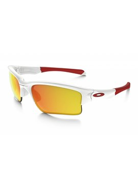 OAKLEY Quarter Jacket Polished White w/ Fire Iridium (Youth fit)