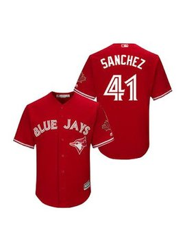 MAJESTIC Aaron Sanchez Toronto Blue Jays Men's Replica Jersey