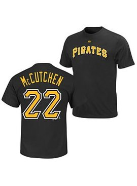 MAJESTIC T-SHIRT MCCUTCHEN PITTSBURGH PIRATES SMALL