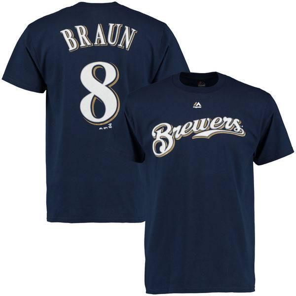 majestic milwaukee brewers ryan braun t shirt baseball town. Black Bedroom Furniture Sets. Home Design Ideas