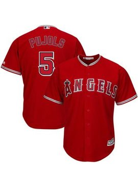 MAJESTIC L.A. Angels Albert Pujols Mens Replica Jersey Medium