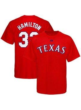 MAJESTIC T-SHIRT HAMILTON TEXAS RANGERS
