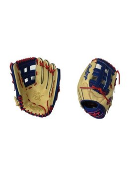 "RAWLINGS HOH Custom Softball Glove 13"" Camel/Royal/Red Right Hand-Throw"