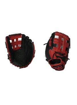 "RAWLINGS HOH Custom Softball Glove 12.5"" Black/Red Right hand throw"