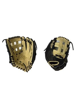 "RAWLINGS HOH Custom Softball Glove 12.5"" Black/Camel Right hand throw"