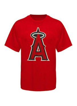 MAJESTIC T-SHIRT TEAM LOGO ANGELS LARGE 4 A 7 ANS