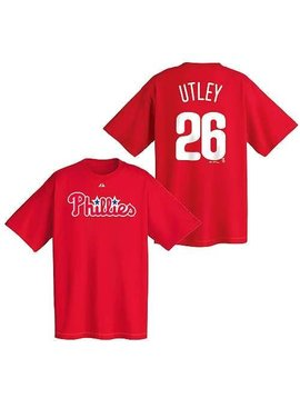 MAJESTIC CHANDAIL C. UTLEY PHILLIES YOUTH X-LARGE