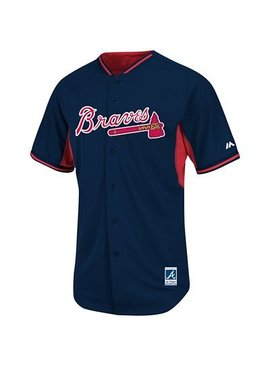 MAJESTIC BP JERSEY ATLANTA BRAVES