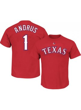 MAJESTIC Elvis Andrus Texas Rangers Youth T-shirt