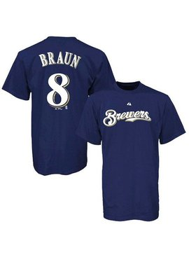 MAJESTIC Ryan Braun Milwaukee Brewers Youth T-Shirt