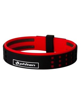 PHITEN BRACELET DUO TITANIUM BLACK/RED 6 3/4""