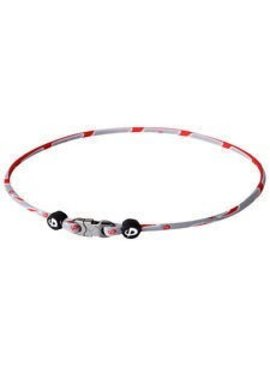 PHITEN COLLIER RAZOR TITANIUM RED/GREY 18""