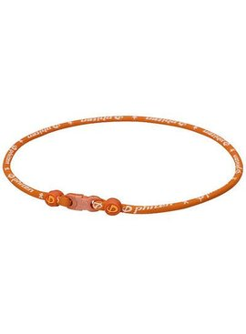 PHITEN PHITEN TITANIUM NECKLACE ORANGE 22""