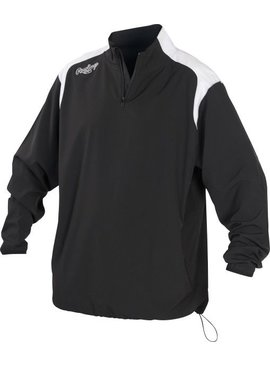 RAWLINGS Men's 1/4 Zip Long Sleeve Jacket