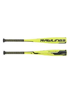 """RAWLINGS Quatro 2 5/8"""" Jr. Big Barrel Baseball Bat (-11) 27""""/16oz"""
