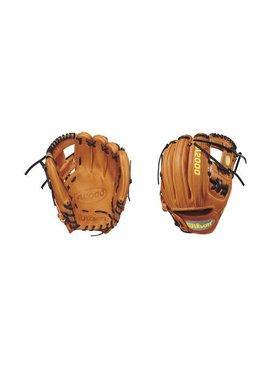 "WILSON A2000 DP15 Pedroia Fit Blonde/Columbia Blue 11.5"" Baseball Glove"
