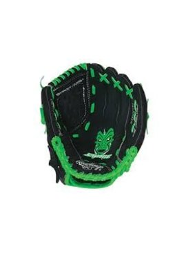 "RAWLINGS Savage Series 9.5"" Neon Green/Black Youth Baseball Glove"