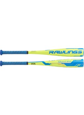 "RAWLINGS Quatro 2 5/8"" USA Tee Ball Baseball Bat (-11)"