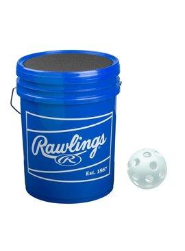 RAWLINGS Plastic Training Baseball Ball Bucket (3 Dz)