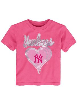 OUTERSTUFF Unfoiled Love New York Yankees Kids Short Sleeve Shirt