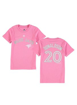 OUTERSTUFF Official Blue Jays Donaldson Short Sleeve Girl's Tee