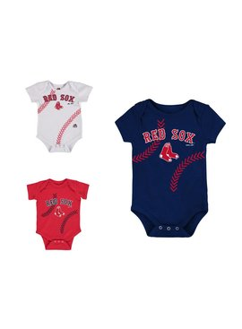 OUTERSTUFF Fan-Tastic Red Sox Baseball 3-Pack Set Infant