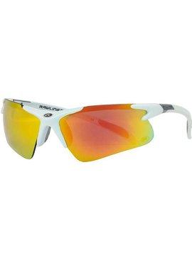 RAWLINGS Adult Half-Rim Sunglasses White/Smoke Orange