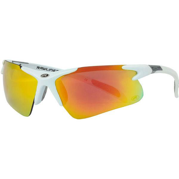 RAWLINGS Adult Half-Rim Sunglasses White/Smoke Orange