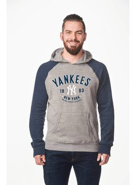 CAMPUS CREW Men's Colour Block Hood New York Yankees