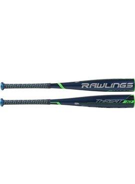 """RAWLINGS UT9T10 Threat Alloy 2 3/4"""" USSSA Baseball Bat (-10)"""