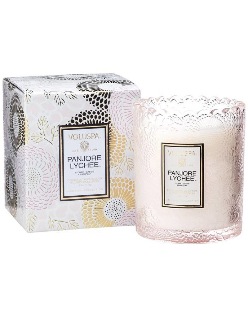 VOLUSPA SCALLOPED EDGE GLASS CANDLE