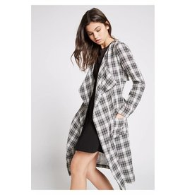 BCBGeneration PLAID BELTED JACKET
