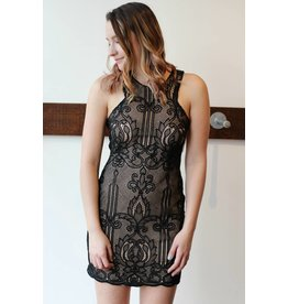 SHILLA THE LABEL DOLCE LACE MINI DRESS