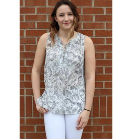 AND B MOLLY SLEEVELESS BLOUSE