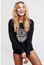 Spiritual Gangster GRATEFUL MEDALLION CROP SWEATSHIRT