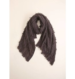 LOOK BY M STRIPED GRUNGE SCARF
