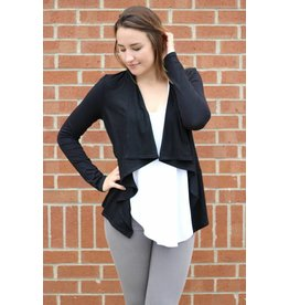 Z SUPPLY THE SUEDE WATERFALL CARDIGAN
