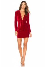 MINK PINK MIDNIGHT HOUR VELVET DRESS