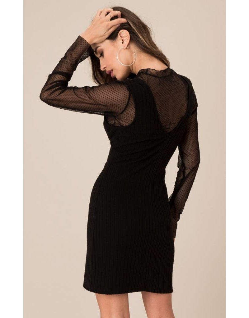 BLACK SWAN STACI L/S LACE DRESS