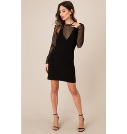BLACK SWAN STACI L/S LACE DRESS